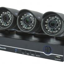 Kit supraveghere video AHD PNI House PTZ1200 Full HD - NVR si 4 camere exterior