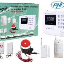 Sistem de alarma PNI PG200 comunicator GSM/PTSN-99 zone wireless si 2 cu fir