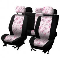 Huse scaune auto Pink Flower 310121