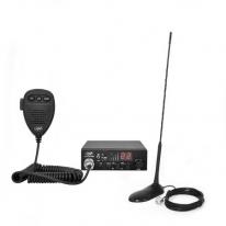 Kit Statie radio CB PNI ESCORT HP 8000L ASQ + Antena CB PNI Extra 45 cu magnet