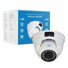 Camera supraveghere video PNI House IP2DOME 1080P cu IP varifocala 2.8 - 12 mm dome interior si exterior 1