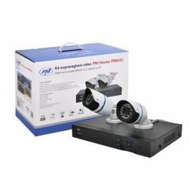 Kit supraveghere video PNI House IPMAX2 - NVR 12CH 960P ONVIF si 2 camere IP 720P cu Hard Disk 1Tb 3