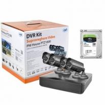 Kit supraveghere video PNI House PTZ1000 cu HDD Seagate 1Tb inclus - DVR si 4 camere de exterior