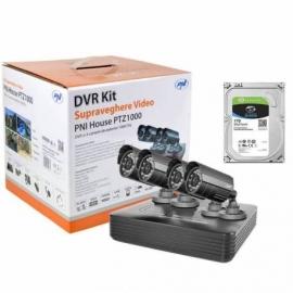 Kit supraveghere video PNI House PTZ1000 cu HDD Seagate 1Tb inclus - DVR si 4 camere de exterior 1