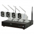 Kit supraveghere video PNI House WiFi400 NVR si 4 camere wireless, 1.0MP 2