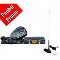 Kit Statie Radio CB CRT One Cu Antena PNI Extra 45