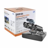 Kit supraveghere video PNI House PTZ1000 - DVR si 4 camere exterior 1000 linii