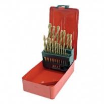 Set burghie de metal HSS titanate in cutie 1-10MM - 19P